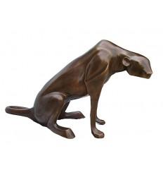 léopard en bronze BRZ0111  ( H .71 x L .132 Cm )  Poids : 39 Kg