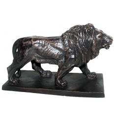 lion en bronze BRZ0907  ( H .15 x L .20 Cm )  Poids : 2 Kg