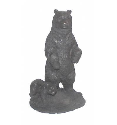 ours en bronze BRZ0428  ( H .30 x L .17 Cm )  Poids : 3 Kg