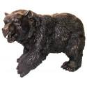ours en bronze BRZ0605  ( H .23 x L .36 Cm )  Poids : 4 Kg