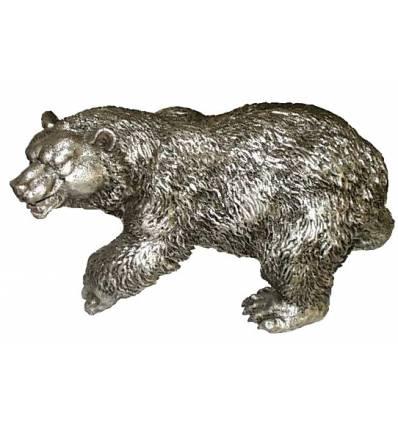 ours en bronze BRZ0605A  ( H .20 x L .40 Cm )  Poids : 8 Kg