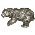 ours en bronze BRZ0605A  ( H .20 x L .40 Cm )  Poids : 4 Kg