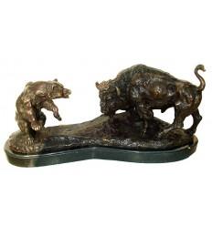 ours en bronze BRZ1199/SM067 ( H .25 x L .48 Cm )