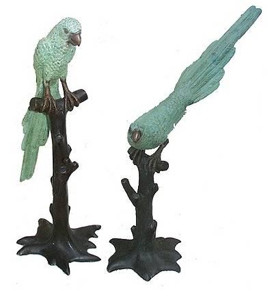 perroquet en bronze BRZ0522V-50  ( H .127 x L .114 Cm )