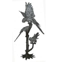 perroquet en bronze BRZ0960  ( H .163 x L :101 Cm )  Poids : 48 Kg