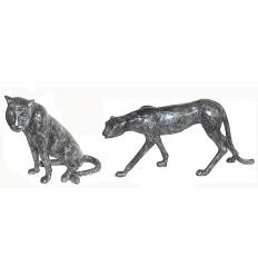 léopard en bronze BRZ0108V  ( H .51 x L .66 Cm )  Poids : 28 Kg