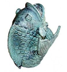 poisson en bronze BRZ0213v-23  ( H .58 x L .38 Cm )