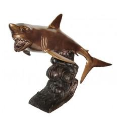 requin en bronze BRZ1158 ( H .56 x L :76 Cm ) Poids : 16 Kg