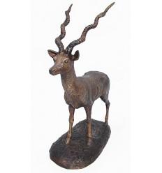 oryx en bronze BRZ1432-14  ( H .38 x L .30 Cm )  Poids : 0,5 Kg