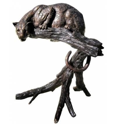 Guépard en bronze BRZ358  ( H .121 x L :120 Cm )  Poids : 65 Kg