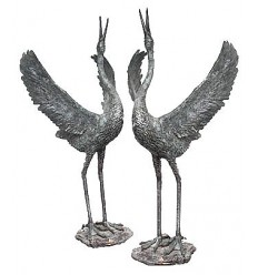 Héron en bronze BRZ0893 ( H .210 x L :95 Cm )