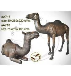 Chameau en bronze aa717-100  ( H .220 x L :260 Cm )