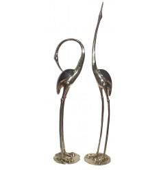 Héron en bronze BRZ304o  ( H .172 x L :139 Cm )  Poids : 20 Kg