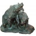 Ours en bronze BRZ1200V/SM402  ( H .46 x L :61 Cm )  Poids : 33,5 Kg