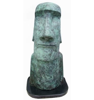 sculpture de moai BRZ1413V  ( H .120 x L .61 Cm )  Poids : 103 Kg