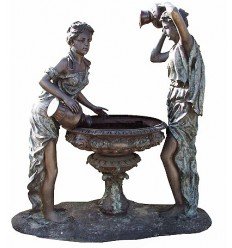 Fontaine bassin bronze BRZ0766