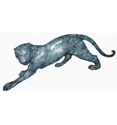 léopard en bronze BRZ0152V  ( H .43 x L .139 Cm )  Poids : 33 Kg