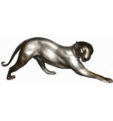 léopard en bronze BRZ1668  ( H .20 x L .60 Cm )  Poids : 4.5 Kg