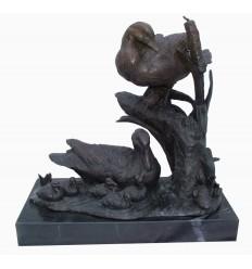 Canards en bronze BRZ1204 / SM480 (H. 40 x L. 40 Cm)