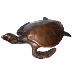 tortue en bronze BRZ0086  ( H .15 x L .43 Cm )  Poids : 6 Kg