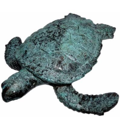 tortue en bronze BRZ0573V ( H .22 x L .22 Cm ) Poids : 1 Kg