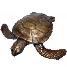tortue en bronze BRZ0573  ( H .5 x L .22 Cm )  Poids : 1 Kg