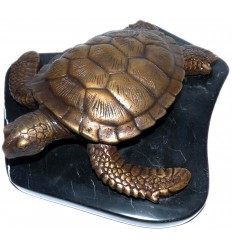 tortue en bronze BRZ0573 SM ( H .22 x L .22 Cm ) Poids : 1 Kg