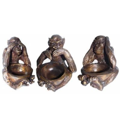 singe en bronze BRZ0353  ( H .25 x L . Cm )