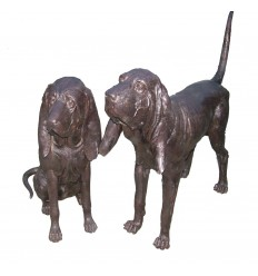 chien en bronze BRZ1012 ( H .91 x L .127 Cm ) Poids : 80 Kg