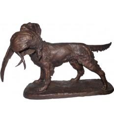 chien en bronze BRZ1699 ( H .35 x L .57 Cm )