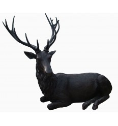 Cerf en bronze BRZ1537 ( H .175 x L .230 Cm )