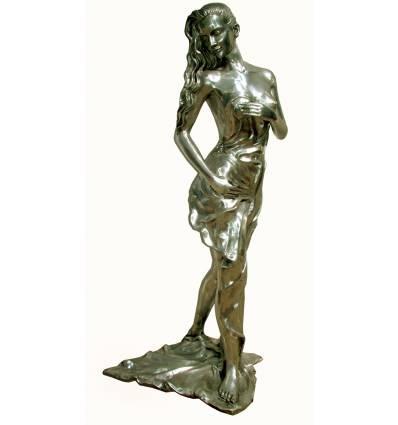 Femme en Aluminium ALU0523 ( H .150 X L . 75 CM )