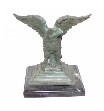Aigle en bronze BRZ0900v-SM  ( H .17 x L .17 Cm )  Poids : 1.5 Kg