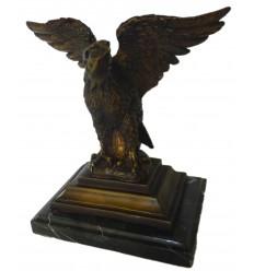 Aigle en bronze BRZ0900-SM ( H .17 x L .17 Cm ) Poids : 1.5 Kg