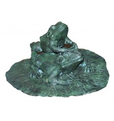 grenouille en bronze BRZ0531V  ( H .30 x L . 48 Cm )  Poids : 15 Kg