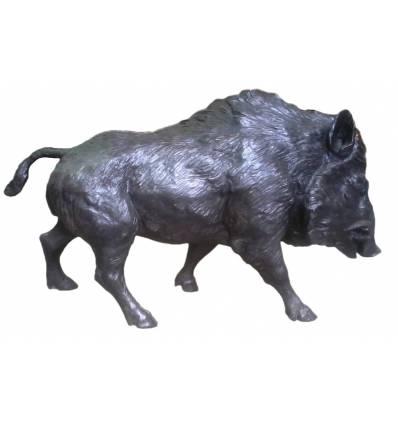 Sanglier en bronze BRZ1716  ( H .92 x L .143 Cm )  Poids : 87 Kg