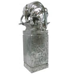 Sculpture panthère en aluminium Réf:1779