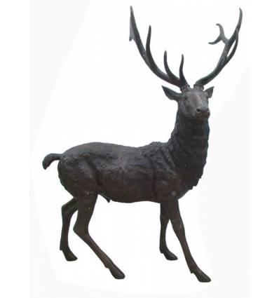 Cerf en bronze BRZ1294-C  ( H 216 x L 162)  Poids 98 kgs