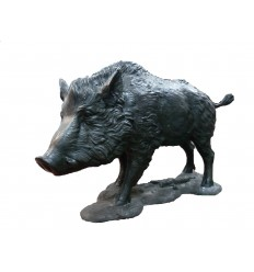 Sanglier en bronze BRZ1366-30  ( H .76 x L .140 Cm )  Poids : 70 Kg