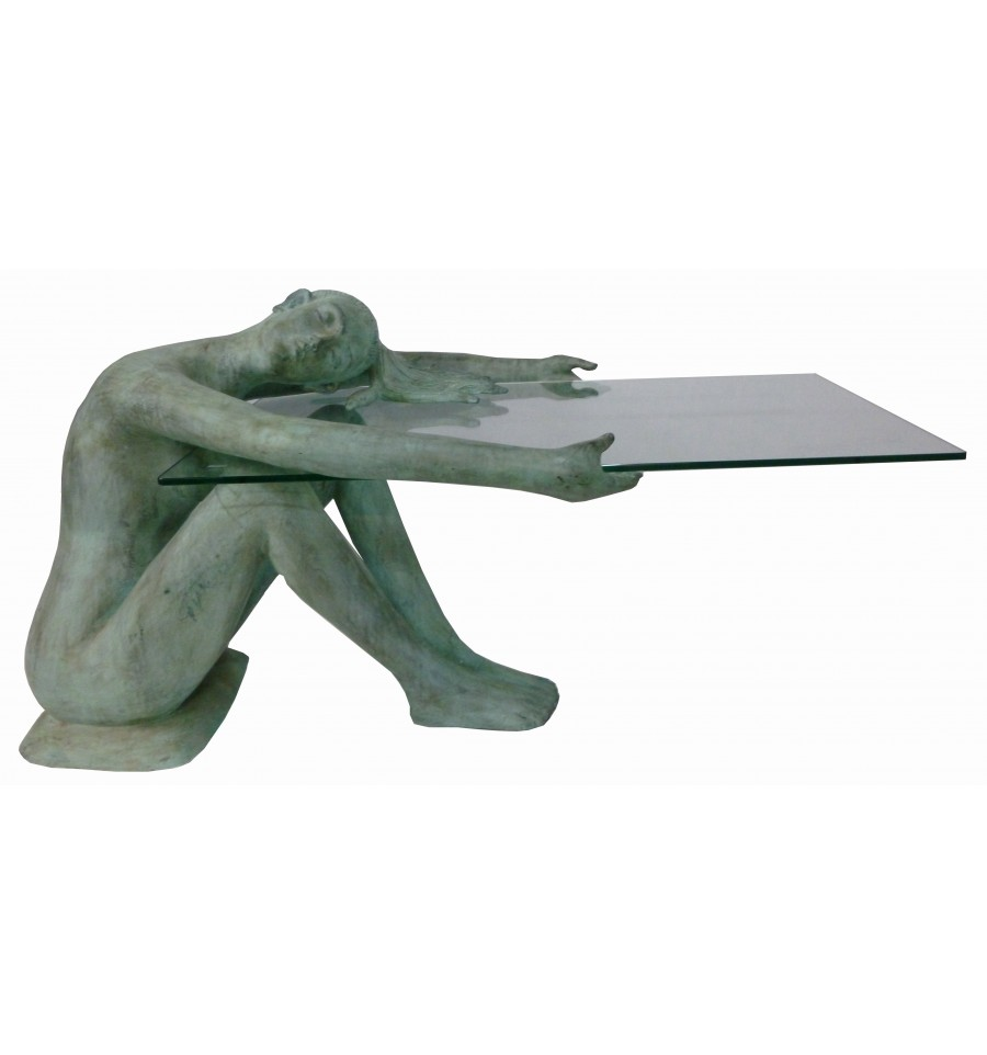 Sculpture Table Basse Femme En Bronze Ref Brz1776