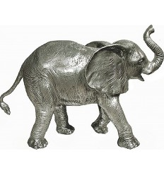 Sculpture d'un éléphant en aluminium Réf : ALU1134