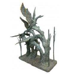 Bronze animalier : canard en bronze BRZ0493V ( H .187 x L .180 Cm )