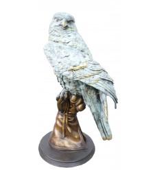 Bronze animalier : aigle en bronze BRZ0679 ( H .58 x L .35 Cm ) Poids : 22Kg