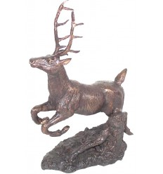 Sculpture cerf en bronze