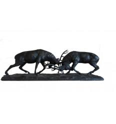 """sculpture en bronze """"combat de cerfs"""" Réf : BRZ1640"""