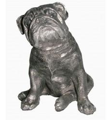 Sculpture chien bulldog en aluminium Réf : ALU1139