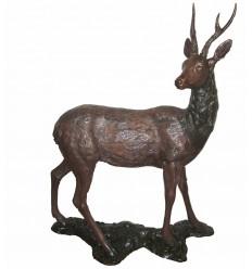 Cerf BRZ0990 ( H .145 x L .105 Cm ) Poids : 56 Kg