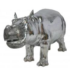 Sculpture d'un hippopotame en aluminium Réf : ALU0667-POLI