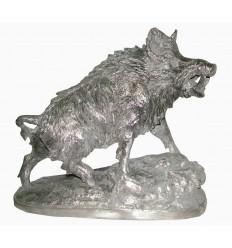 Sculpture d'un sanglier en aluminium Réf : ALU0461