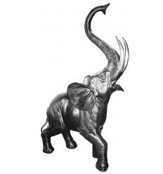 Sculpture d'un éléphant en aluminium Réf : ALU0053
